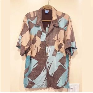 OP Men's Retro Palm Print Hawaiian Shirt XL